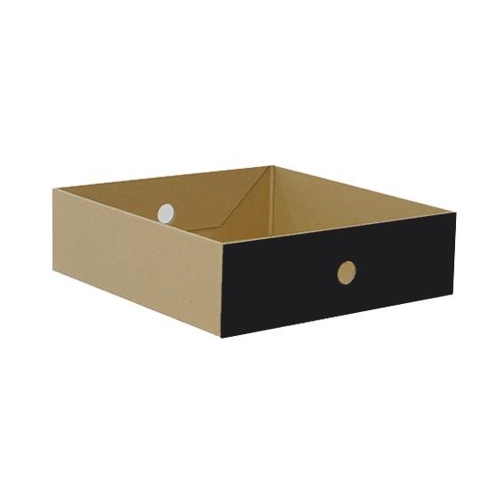 Schub Karton flach, schwarz
