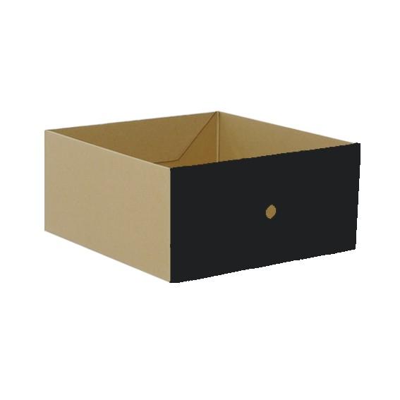 Schub Karton groß, schwarz