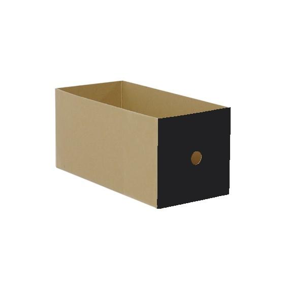 Schub Karton mittel, schwarz